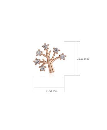 Anna Grace AGE0016 – náušnice Gold Sparkling Crystal Tree AGE0016_GOLD