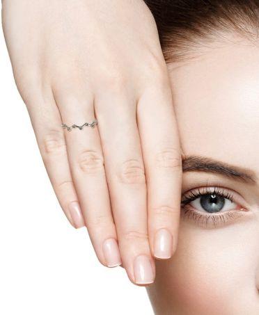 Anna Grace prstýnek Silver Sparkle Crystal 45 AGR0045_SILVER
