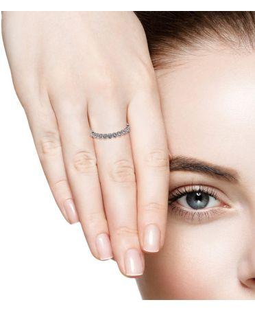 Anna Grace prstýnek Silver Sparkle Crystal 68 AGR0068_SILVER