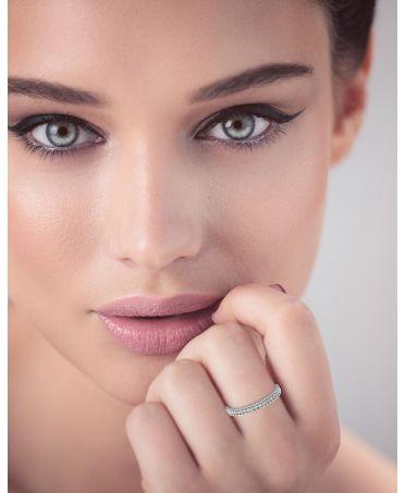 Anna Grace prstýnek Silver Sparkle Crystal 80 AGR0080_SILVER