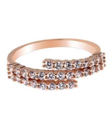 Anna Grace prstýnek Gold Crystal 84 AGR0084_GOLD