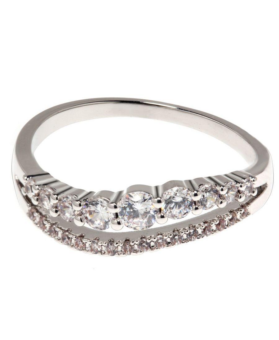 Anna Grace prstýnek Silver Sparkle Crystal 88 AGR0088_SILVER
