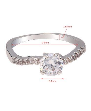 Anna Grace prstýnek Silver Sparkle Crystal 60 AGR0060_SILVER