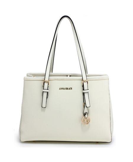 Anna Grace bílá módní kabelka tote 571 AG00571_WHITE