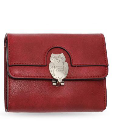 Anna Grace vínová peněženka motivem sovy 1102 AGP1102_BURGUNDY