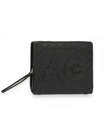 Anna Grace černá peněženka s logem AG 1105 AGP1105_BLACK