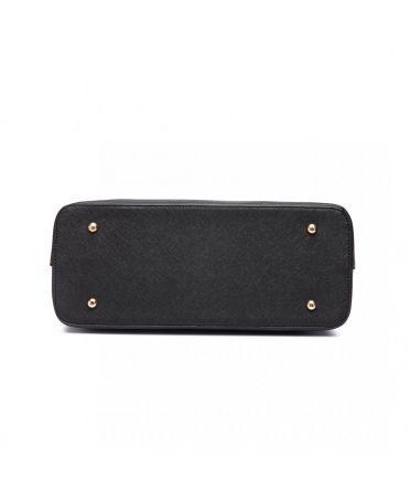 Miss Lulu kabelkový set černá shopper kabelka 6648 LT6648_BK