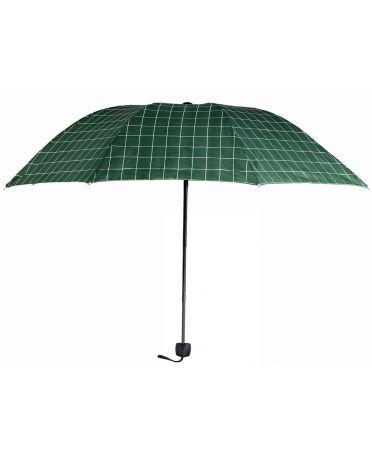 Anna Grace zelený manuální skládací deštník s potiskem AGU0012_GREEN