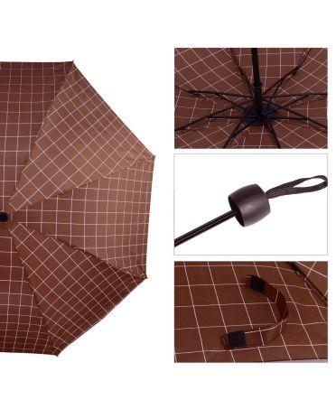 Anna Grace vínový manuální skládací deštník s potiskem AGU0012_BURGUNDY