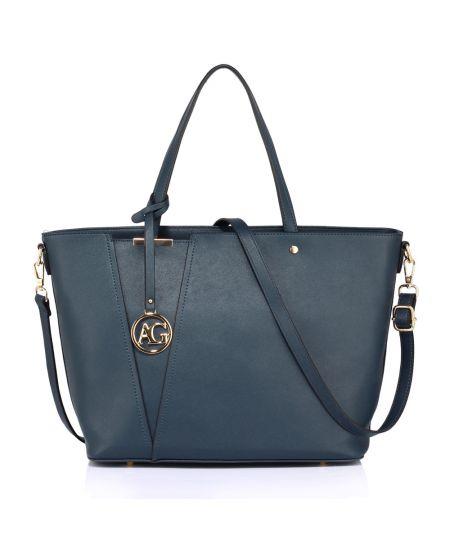 Anna Grace tmavě modrá shopper kabelka 522 AG00522_NAVY