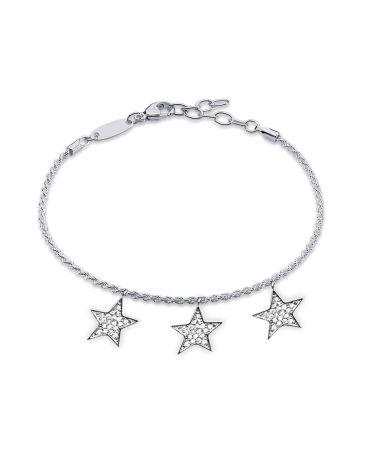 Anna Grace AGB0067 – náramek Silver Stars Crystal AGB0067_SILVER