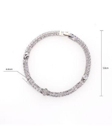 Anna Grace AGB0062 - náramek Silver Sparkling Crystal AGB0062_SILVER