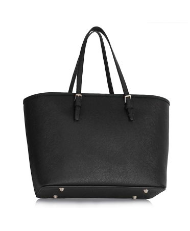 Anna Grace černá kabelka tote velká 297 AG00297_BLACK