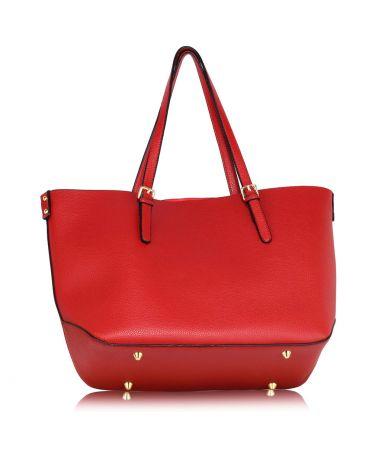 LS London červená shopper kabelka s vyjímatelným pouzdrem 265 LS00265_RED