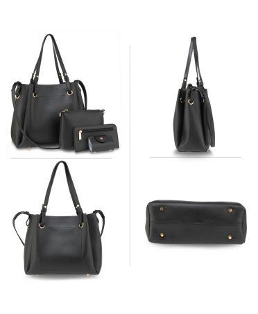 Anna Grace kabelkový set černé barvě 666 AG00666_BLACK