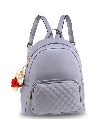 1ca7c3da33b Anna Grace elegantní světle fialový batoh s prošívanou kapsou AG00674 PURPLE