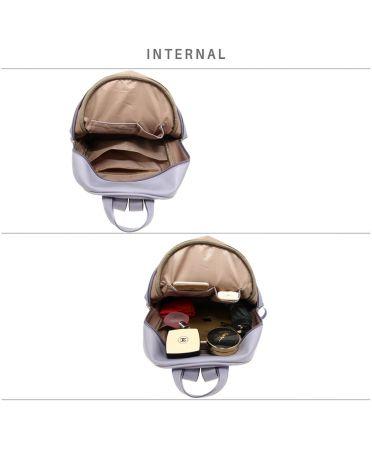 Anna Grace elegantní světle fialový batoh s prošívanou kapsou 674 AG00674_PURPLE