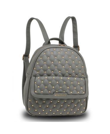 ccd5b149b83 Anna Grace luxusní šedý batoh se značkou na přední straně AG00712 GREY