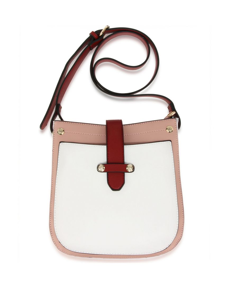 dbc60860ac Anna Grace módní bílá-růžová-vínová crossbody kabelka 684  AG00684 PINK WHITE BURGUNDY