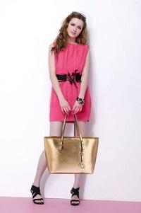 Anna Grace zlatá shopper kabeka