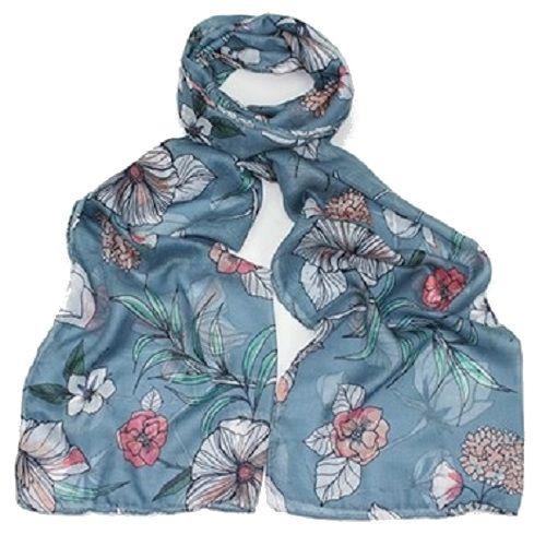 Hazel & Pip modrý dámský maxi šátek VALE 1265