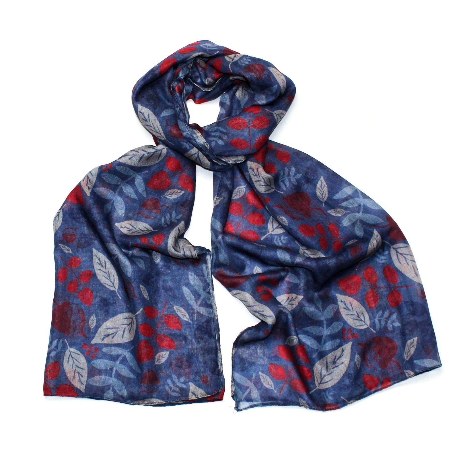 Hazel & Pip modrý dámský maxi šátek Yorkshire 3002